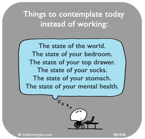 INFJ; things to contemplate today instead of working