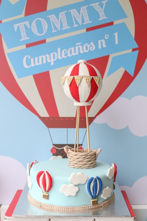 Primer cumpleaños temático: Globos aerostáticos - DECORACIÓN FIESTAS