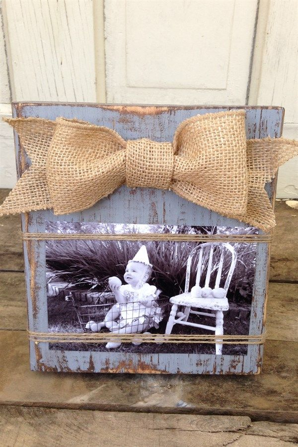 Adorable Rustic Wood Picture Frame | Jane