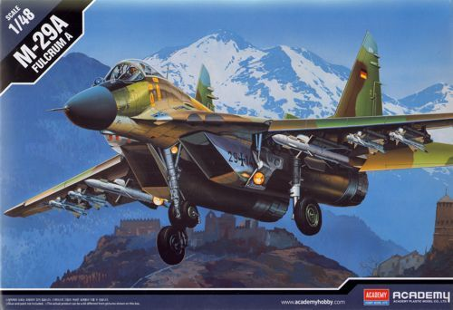 """Mikoyan MiG-29A """"Fulcrum"""". Academy, 1/48, injection, No.12263. Price: 15,99 GBP."""