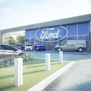 Progetto new Ford Store di Rimini progettato dallo studio Archdesign di Cesena
