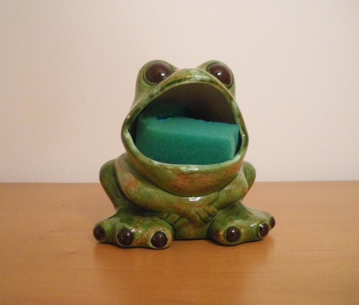 Vintage, Ceramic, Frog, Kitchen Dish Scrub Holder   Glass Frog, Kitchen  Dishes And Vintage Ceramic