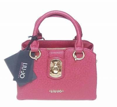 handbags-borsa-bauletto-doppi-manici-LIU-JO-eco-pelle-saffiano-pepper-tracolla
