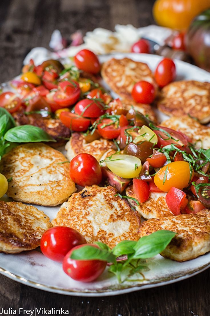 Delicious, savoury fritters with Grana Padano cheese and fresh tomato and basil…