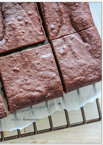 Paleo Brownies - coconut flour, coconut oil, eggs, sweetener, and chocolate