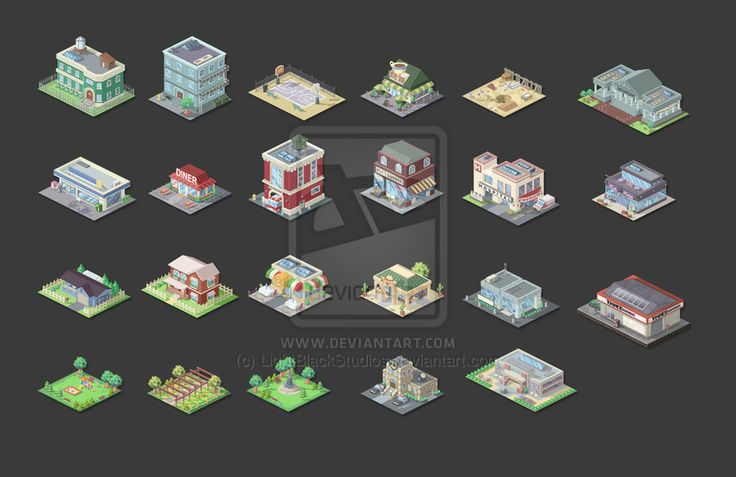 #isometric #buildings