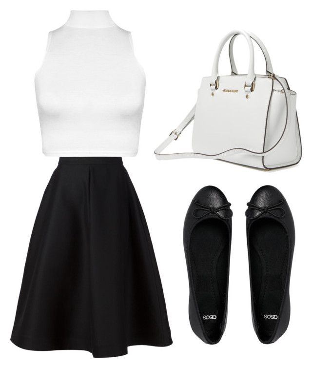 """freestyle: black and white 2"" by jasminehekekire on Polyvore featuring WearAll, Vika Gazinskaya and ASOS"