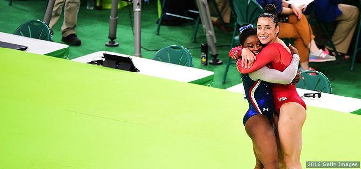 Simone Biles, Aly Raisman Go 1-2 In Historic Olympic All-Around For Team USA