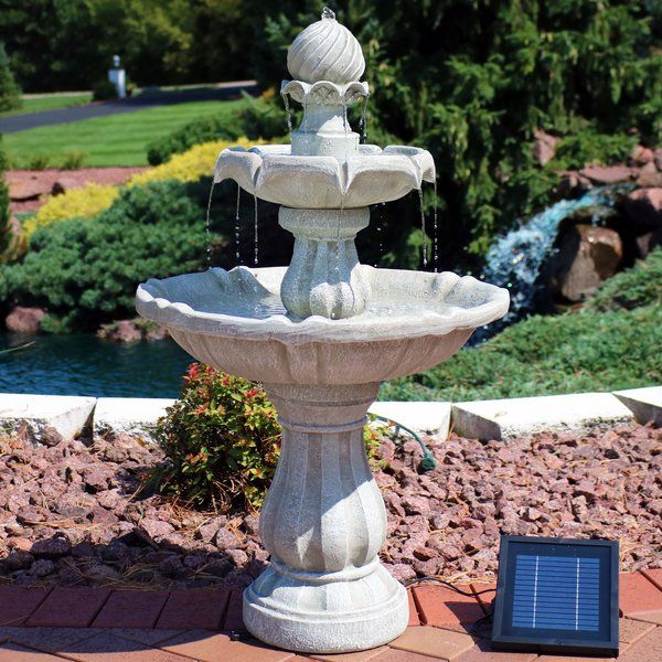 Malpelo Resin Solar Fountain Water