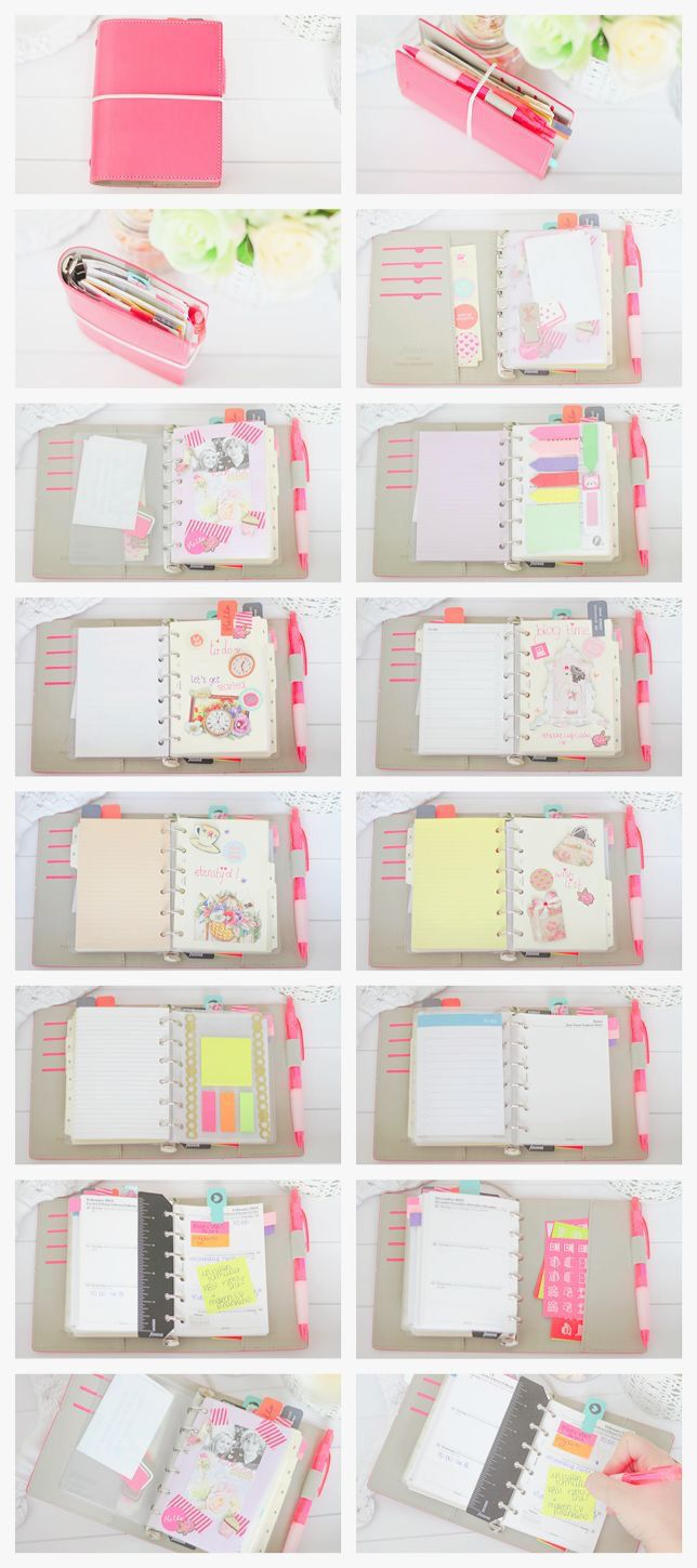 Filofax style..make a tab in planner that houses sticky notes