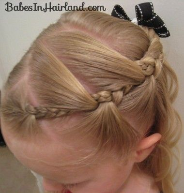 A great website that has very cute hair ideas! I am excited to try these on Parker.