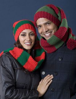 Christmas Scarf/Hat Duo #free #crochet #pattern
