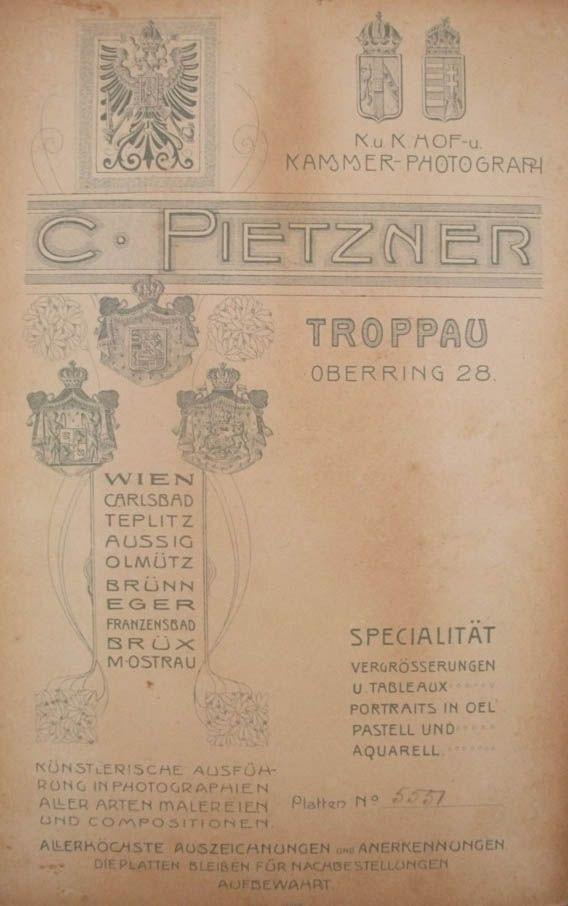C. PIETZNER, Troppau (now Opava, Czech republic)