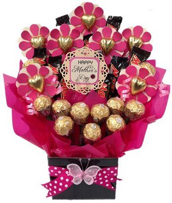 Mother's day flower chocolate bouquet for the flower loving mums