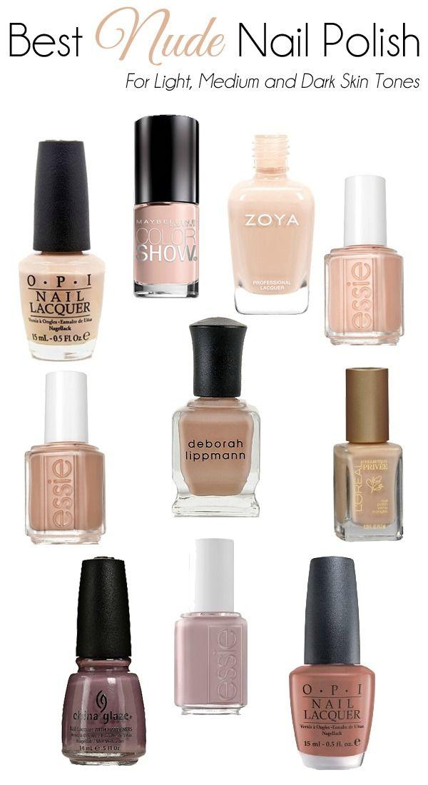 Best nude nail polish for light, medium and dark skin tones