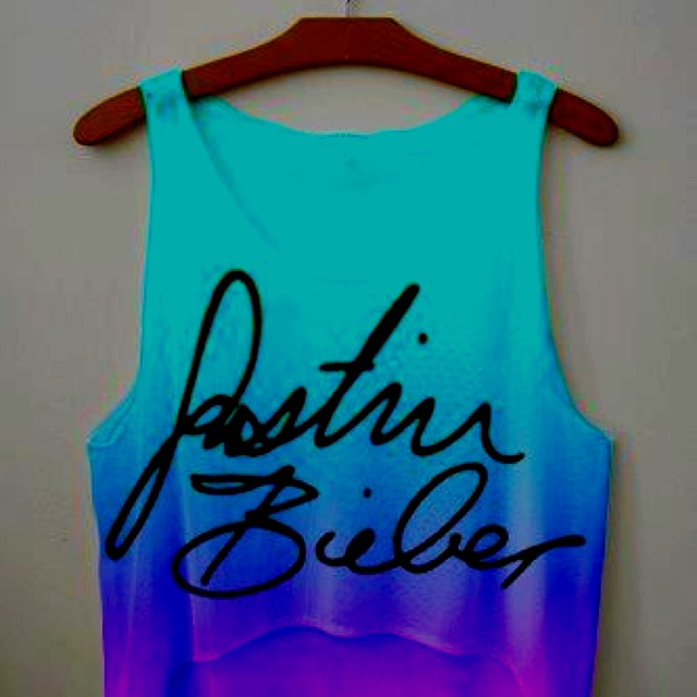 ♡ On Pinterest @ kitkatlovekesha ♡ ♡ Pin: Fandom Merch ~ Justin Bieber Tank Top ♡