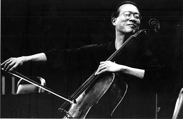 things can fall apart, or threaten to, for many reasons, and then there's got to be a leap of faith. ultimately, when you're at the edge, you have to go forward or backward; if you go forward, you have to jump together.| yo-yo ma
