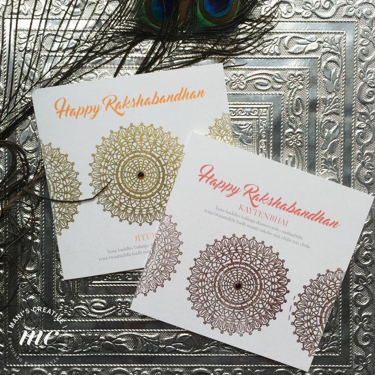 Rakshabandhan Cards by ManisCreativeService on Etsy