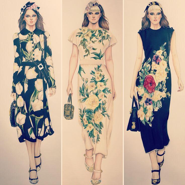 Fashion illustration D&G fall 2016 by Trudi Fraser