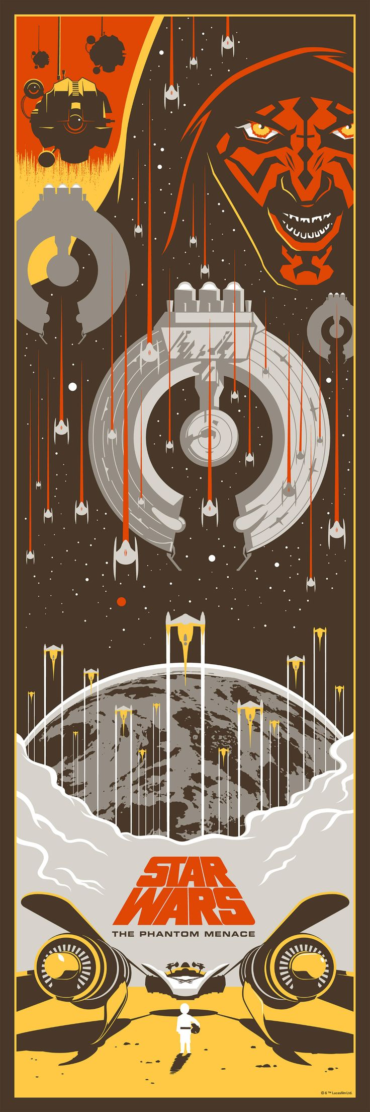 The Star Wars prequels will forever be a point of contention. Some love them as their Star Wars trilogy. Others find them mindless and painful. But even people with opinions as opposing as those would agree, these new posters by Eric Tan are the best of what those films offer.