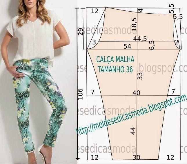 CALÇAS FÁCIL DE FAZER-11 - Moldes Moda por Medida