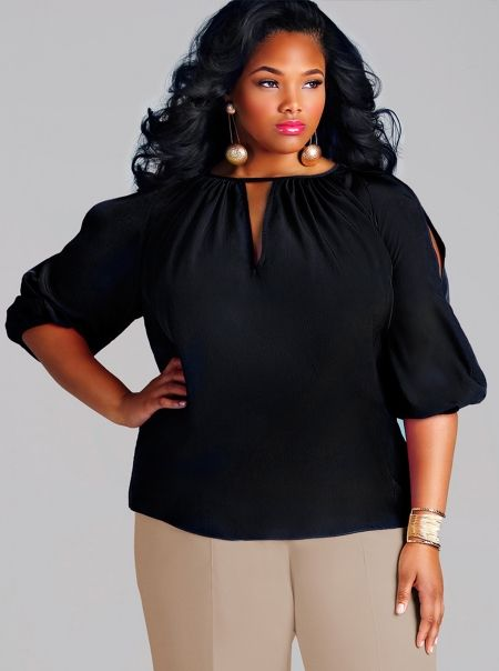 Healthy curves, feminine shapes and the ability to present your body in favorable view are the new trend. Wear any colors plus size that suit you and don't forget about the fashion hairstyle and accessories.