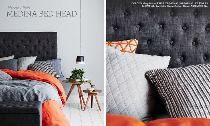 Love but the husband says no to a $600 bedhead :D Lookbook   Adairs