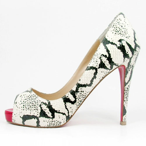Christian Louboutin Serpentine Red Toe Pumps