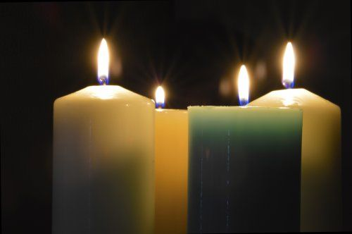 four christmas candles image