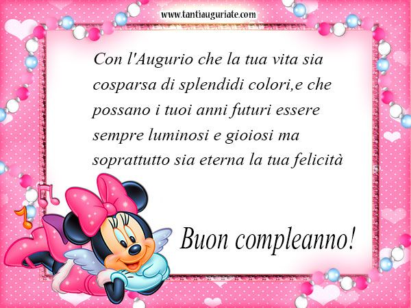 Minnie Mouse Auguri di Buon Compleanno #compleanno #buon_compleanno #tanti_auguri