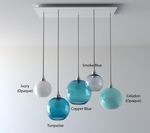 Kitchen Island Lighting Colorful Glass Pendant Lights Hand Blown Glass Lights For Kitchen Bespoke Lighting Glass Pendant Light Clear Glass Pendant Light Modern Glass Pendant Light