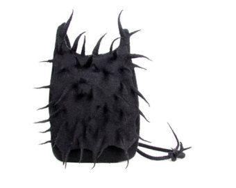 Felted green purse clutch felt handbag wool by DosethHandmade