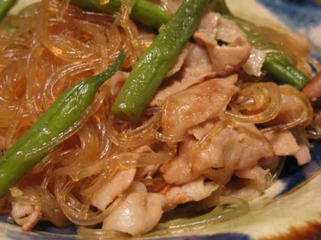 豚バラ肉とはるさめのウマウマ煮♡の画像