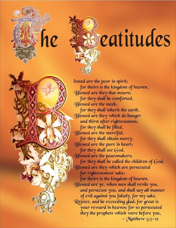 roman catholic 8 beatitudes