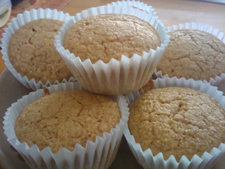 A Hapa Couple's Dukan Recipes: Dukan Orange Creme Vanilla Oat Bran Muffins