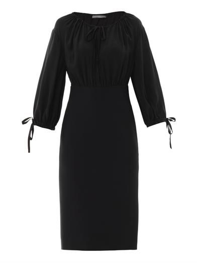 Ruched silk dress | Alexander McQueen | MATCHESFASHION.COM