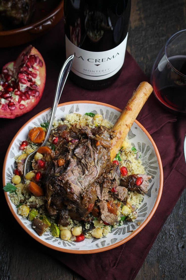 Moroccan-Braised Lamb Shanks with Royal Couscous
