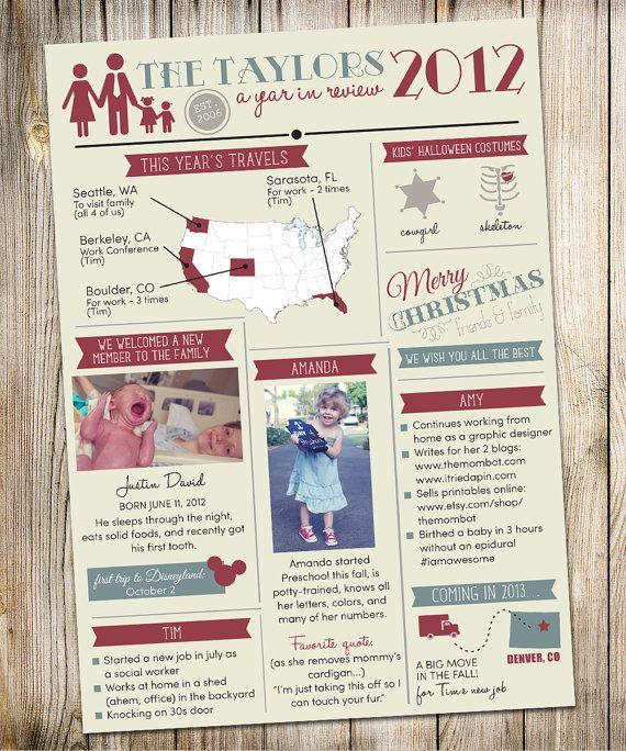 Christmas newsletter ideas  Christmas  Pinterest  Newsletter ideas, Keepsa...