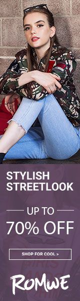 Stylish Street Looks! Shop now and save upto 70% off at #Romwe.Ends 10/2   http://www.planetgoldilocks.com/clothing  #clothing #fashions #romwe