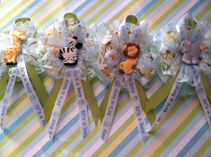 Baby Shower Animal Safari Theme Guest Corsage by LucirisCreations, $24.95