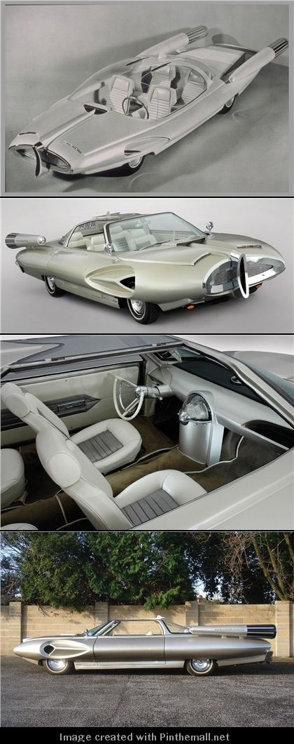 Ford X2000 concept car model, This amazing creation is the Ford X2000, a styling fantasy from 1958, what the Ford design department thought we might just possibly be driving in the year 2000. - created via http://pinthemall.net
