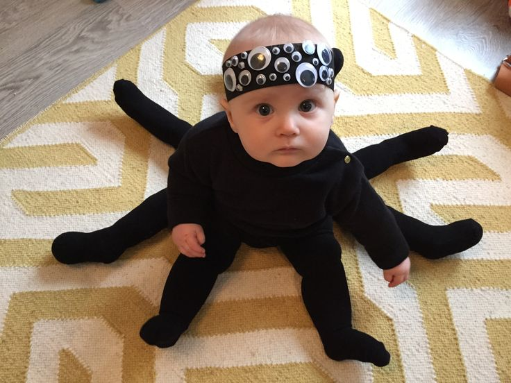 SPIDERbaby! Spider baby Halloween costume using stuffed black baby tights | H a l l o w e e n M ...
