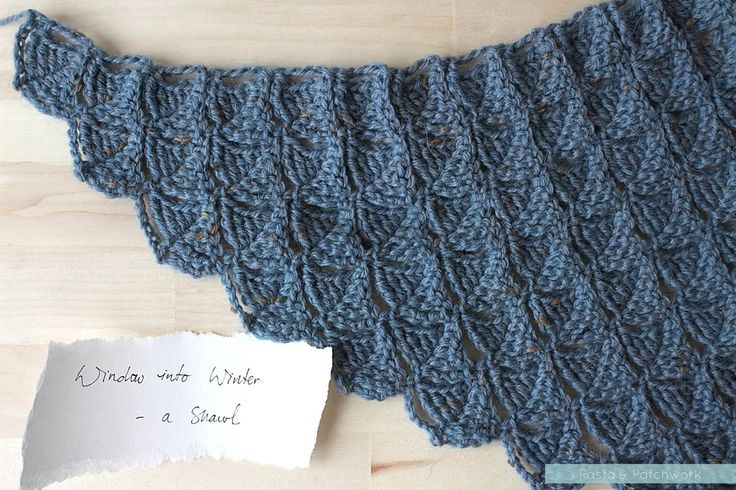 Window into Winter - a shawl. Pattern by Eline Alcocer, scheduled for release in 2016.