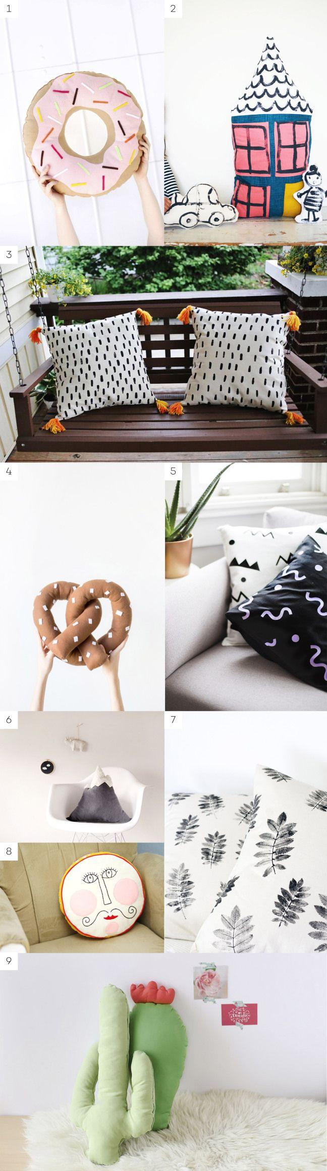 DIY ideas: Crea tus propios cojines | DIY ideas: Make your own pillows - en The Creative Jungle
