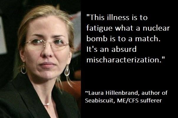 Tell 'em Laura. The war hero that  Unbroken was about gave her his Purple Heart when he saw her suffering. Her disease resulted in lack of affirmation from family members. Get your tissues ready. #fibro #suffering