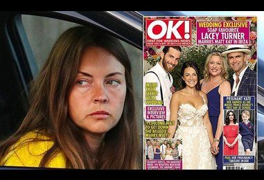 EastEnders Lacey Turner looks glum after getting married