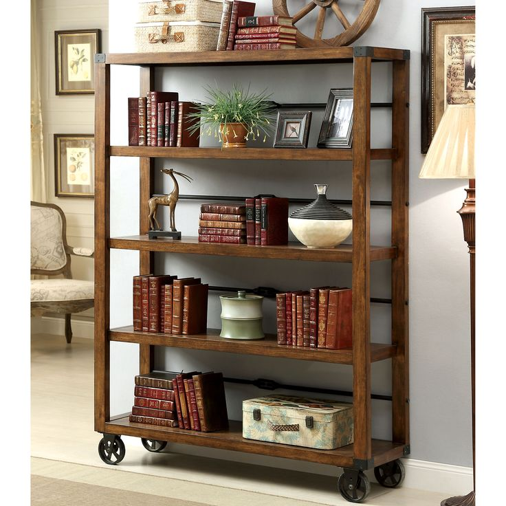 13 best bookcases images on pinterest for the home for Furniture of america nara contemporary 6 shelf tiered open bookcase