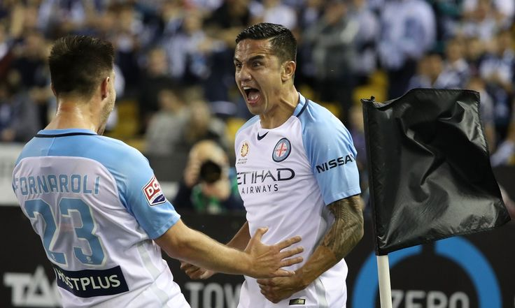 Socceroo Tim Cahill has marked his return to league football in Australia in the most remarkable fashion, scoring a 40-metre stunner to announce his arrival