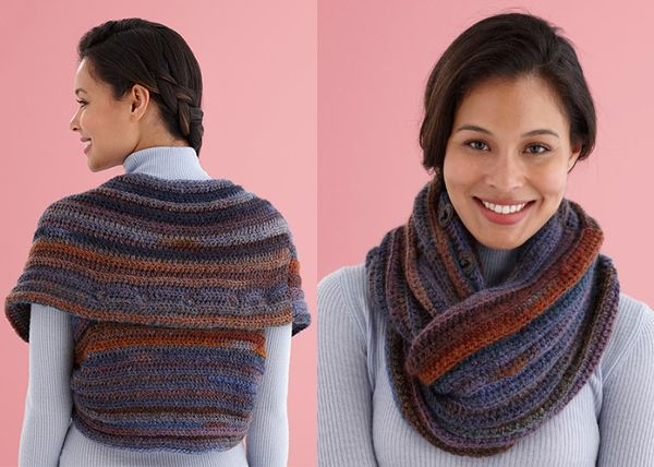 Snap-It Shrug/Cowl Free Crochet Pattern