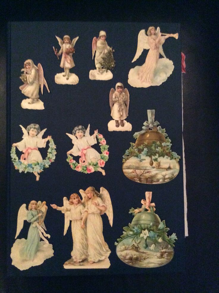 Antique die cut scraps from my personal collection
